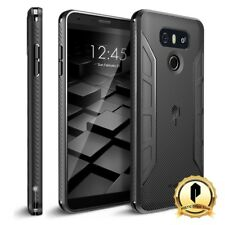 POETIC For LG G6 [Karbon Series] Shockproof Case With Anti-Slip Side Grip Black