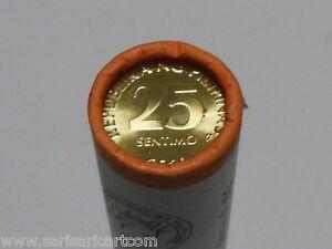 2014 25 Sentimo 50 Bangko Sentral NG Pilipinas UNC Coins Full Roll KM# 271a