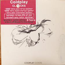 COLDPLAY- clocks  - CD single - rare israeli promo copy with hebrew sticker