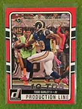 TODD GURLEY FOIL FOOTBALL CARD 2016 Panini Donruss Production Line Touchdowns #4