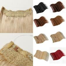 """Straight 18""""Remy 100% Human Hair Extension Hidden Halo Invisible Wire Weft Sale"""