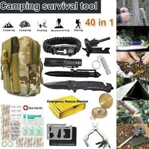 40 in 1 Taktische Notfall Getriebe Militärisches Outdoor Camping Survival Kit