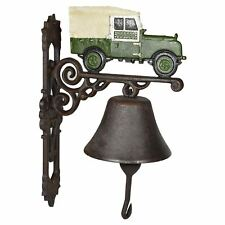 Landrover Defender Bell Cast Iron Sign Plaque Door Wall Fence Gate Post House