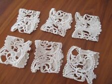 SET OF 6 GORGEOUS BRITTANY LACE SERVIETTE HOLDERS