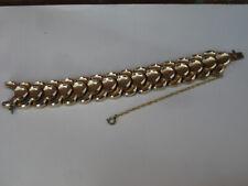 bracelet plaqué or métal articulé années 50/60