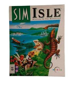 PC CD Game Sim Isle - Missions in the Rainforest 1995 Big Box