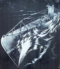 Altes Blechschild Wehrmacht Marine U-Boot U 30 Reklame Werbung gebraucht used