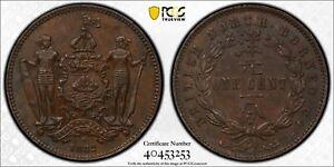 British North Borneo bronze 1 cent 1882 H uncirculated PCGS MS62 BN