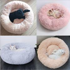 Shaggy Fluffy Fur Pet Beds Dog Puppy Cat Kitten Donut Cushion Nesting Bed pet 4