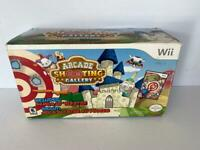 Arcade Shooting Gallery With Blaster Nintendo Wii Bundle Brand New