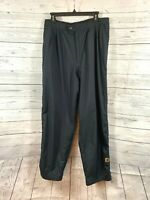Men's DryJoy By FootJoy Black Golf Pants Side Zippers And Snaps Size L