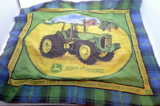 "26"" x 30"" John Deere JD Green Pillow Cover Plaid Sham Holds One Pillow"