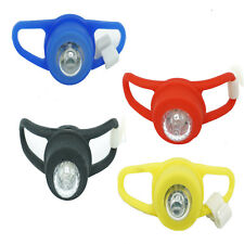 LED Silicone Mountain Bike Bicycle Front Rear Lights Push Cycle Light Lamp Clip