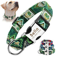 Small Large Dog Collar Personalised ID Tag Engraved Free Adjustable for Labrador
