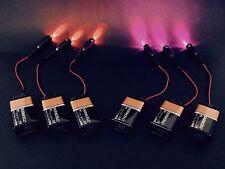 6 pcs 3 purple 3 Orange LED micro effects prop scenery decor lights 9V PM_PO9V6P