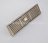 Antique Brass Drain Large Traffic Long Bathroom Floor Shower Linear Grate