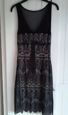 Vintage style black lace cocktail dress by Mango size S