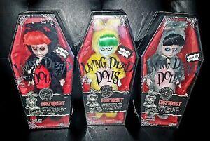 Mezco Living Dead Dolls Eggzorcist USA, UK, and Japan *SEALED*