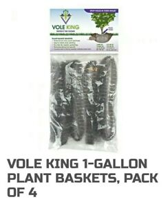 VOLE KING Plant Baskets Gopher Vole Baskets 1 Gal Pack Of 4 Protect Plants USA