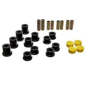 Energy Suspension Control Arm Bushing Kit 11.3105G; Black for Mazda Miata Front