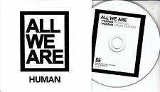ALL WE ARE Human 2017 UK 2-trk promo CD