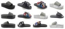 Women's Flowered Multi Color Slip on Sandals Comfortable Flip Flop Shoe Sz 5-10