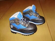 VINTAGE TIMBERLAND BABY BOOTS size 5 BLACK & BLUE excellent condition