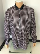 "LANVIN Long Sleeve Shirt, Size 43, 17"" Neck, NEW, BNWOT  Checked"