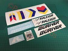 Raleigh CUSTOM TEAM AERO PRO BRUCIATORE personalizzato decalcomania Set vecchia Scuola Bmx ADESIVI