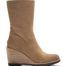 Sorel Womens After Hours Mid Top Waterproof Suede Boot Wedge Comfort Shoes US 10