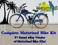 Margaritaville Cruiser Bicycle and 66/80cc Engine - Motorized Bike Kit - DIY Kit