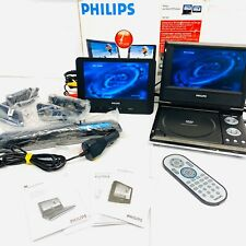 "Philips PET707 Portable DVD Player (7"") Twin Screen (Car/Home) Boxed in VGC"