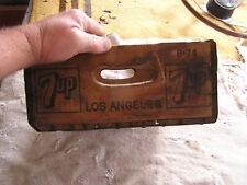 Vintage 7UP Wood Crate Carrier Caddy Los Angeles 1974