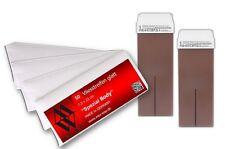 Wachspatrone 100 ml Schoko und 50 Vliesstreifen für Haarentfernung Wachsgerät