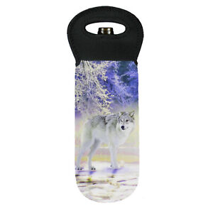 Grey wolf in snow cooler carry bag brand new great gift idea