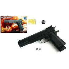 Pistolet a billes a ressort 26cm + 15 billes - Airsoft