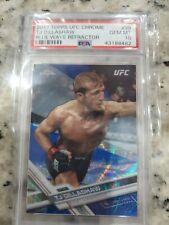 2017 Topps UFC Chrome TJ Dillashaw Blue Wave Refractor  PSA 10