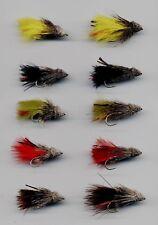 Trout Flies: Muddlers: Wake Flies Long Shank x10 size 8 & 10 assorted (code 317)