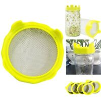 Steel Seed Sprouting Lids Mesh Screen Strainer Filter for Wide Mason Jars Ball