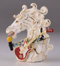 Horse sing  trinket box by Keren Kopal Austrian Crystal Jewelry box Faberge