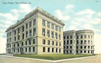 New Orleans Louisiana~Court House~Two Buildings~Annex~1910 Postcard