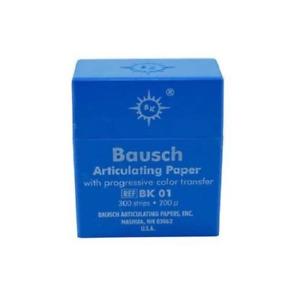 """Bausch BK01 Articulating Paper Strips .008"""" 200 Microns Blue 300/Pk"""