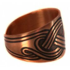 Pure 100% Copper Ring Bioactive Vintage Style Bronze Waterfall