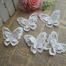 10x 3D Butterfly Embroidered Patch Set Sew on Embroidery Applique Dress Clothing