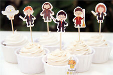 24pcs Harry Potter Cupcake Toppers Birthday Baby Shower Party Supplies