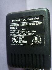 Lucent Technologies Telephone Power Supply Model# Hadb-1 Class 2 120V 60Hz 16W