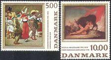 Danimarca 1984 ART/DIPINTI/Carnevale Clown/Pierrot// Bovini/Artisti Set 2 V (n30044)