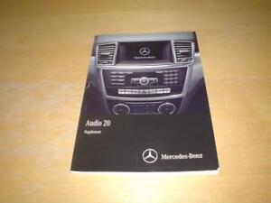 MERCEDES AUDIO 20 W166 250 280 350 AMG CDI CD RADIO Owners Handbook Manual Book