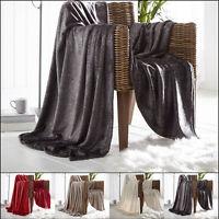 Luxury Throws Single Double Size Fleece Warm 2 Seater Blanket Sofa Bed Sparkle