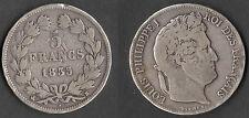 MONNAIE / ECU DE 5 FRANCS LOUIS PHILIPPE DE 1835 B @ ROUEN @ 5 FRANCS ARGENT